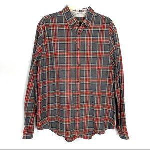 Eddie Bauer Flannel Button Up Shirt Size XL